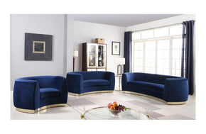 Ximena Navy sofa set