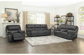 Gordon Gray Fabric Reclining Sofa Set