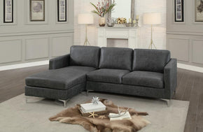 Jordan Gray Sectional Sofa with Sleeper