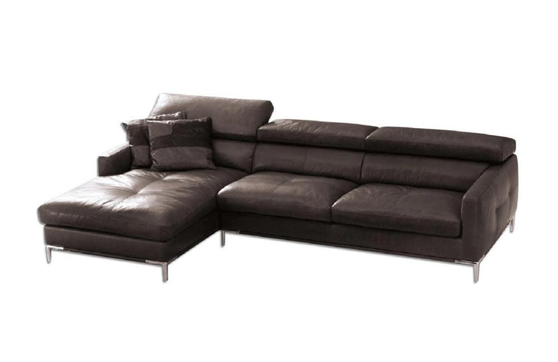 Stefano Brown Leather Sectional Sofa