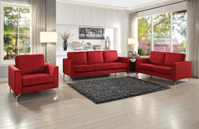 Hannah Red Sofa Set