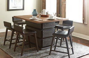 Leroy Counter Height 7 PC Dining Set