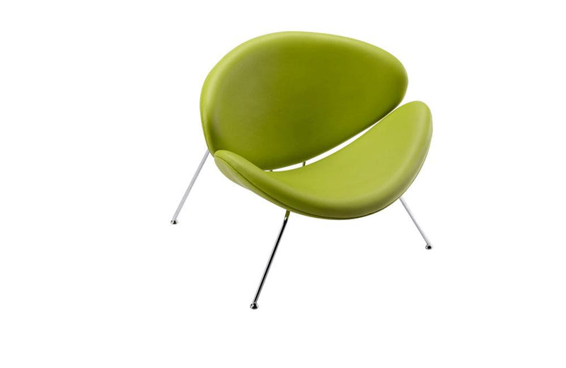 Anais Contemporary Leatherette Accent Chair Green
