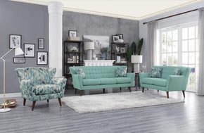 Rory Teal Sofa Set