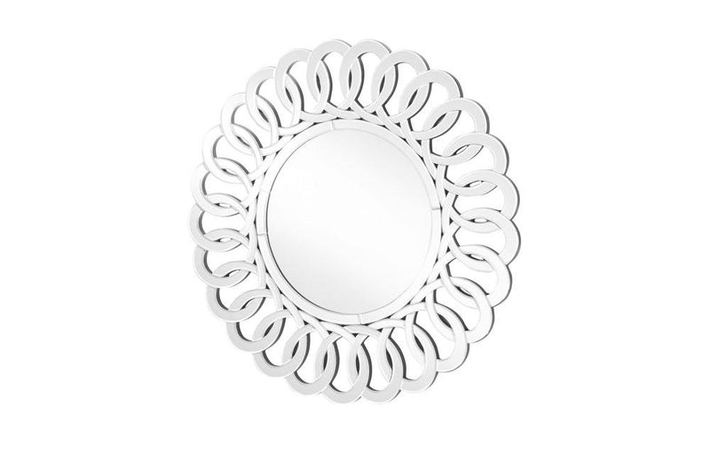 Contemporary Wall Mirror in Clear Round