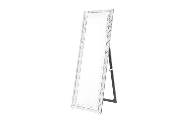 Contemporary Standing Mirror in Clear