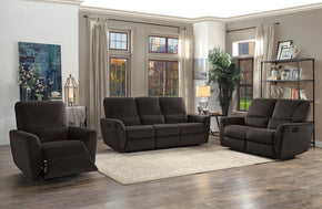 Teddy Brown Reclining Sofa Set