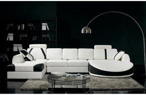 T57 Modern Bonded Leather Sectional Sofa
