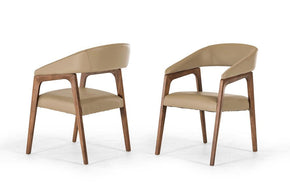 Clive Modern Dining Chair Beige