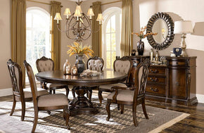 Chateau Royal Round 8 PC Dining Set