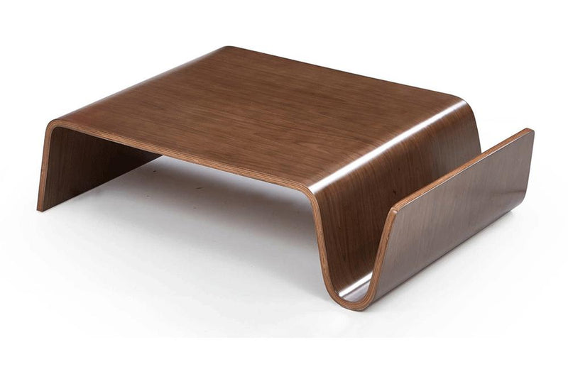 Milford Modern Walnut Coffee Table
