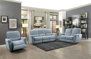 Teddy Gray  Reclining Sofa Set