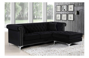 Mason Black Sectional Sofa