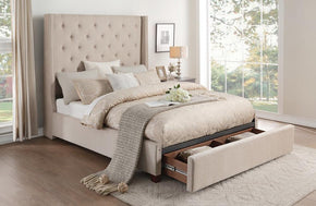 Zenna Brown Storage Bed