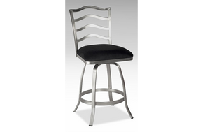 Eli Swivel Stool Black