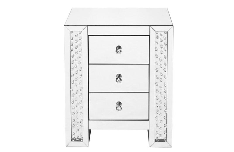 Crystal three drawers Bedside Table