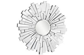 Modern Wall Mirror in Silver Frame Finish
