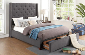 Zenna Gray Storage Bed