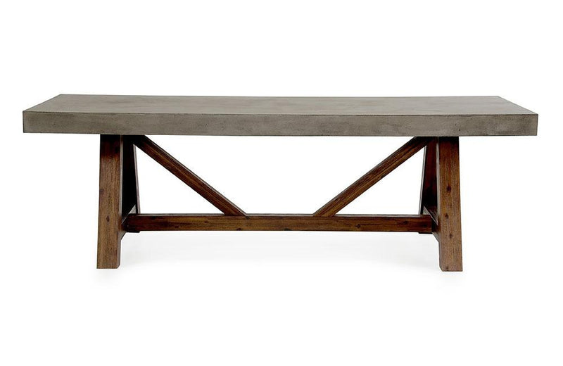 Revok Modern Concrete & Acacia Dining Table