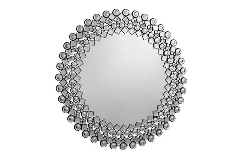 Modern Mirror in Clear Round