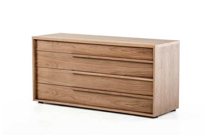 Beth Modern Walnut Dresser Brown