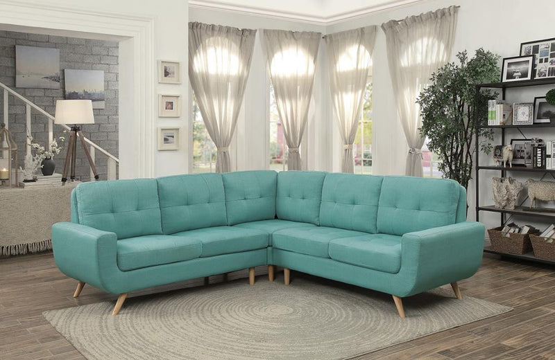 Lewis Teal Sectional Sofa