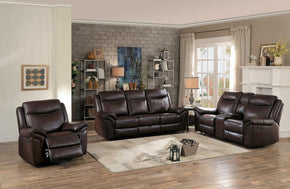 Robert Brown Reclining Sofa Set