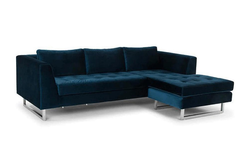 Calais Sectional Sofa Blue