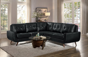 Lewis Black Sectional Sofa