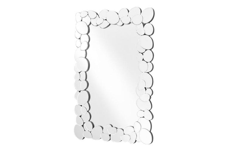 Contemporary Modern Mirror in Clear Rectangle