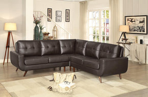 Lewis Brown Sectional Sofa