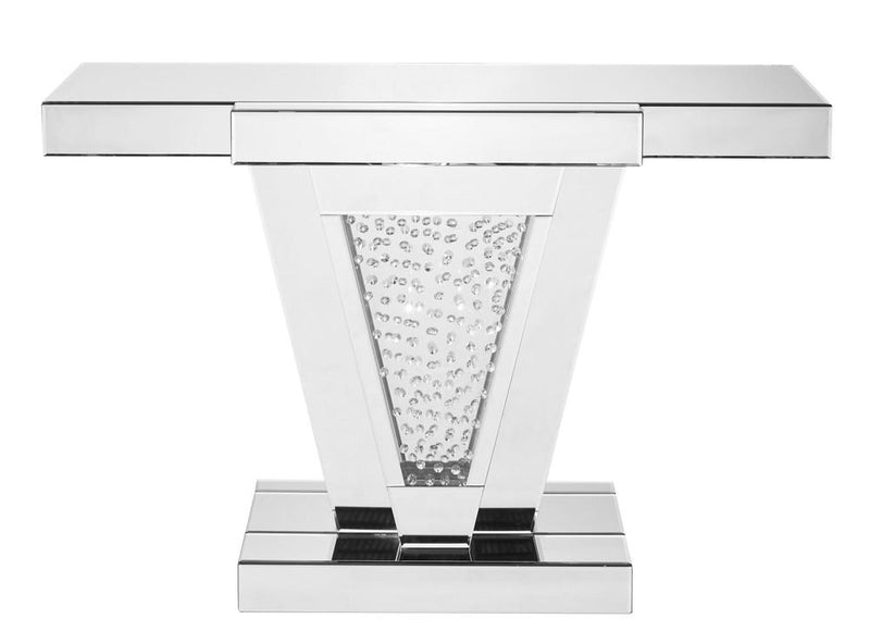 Rectangle Console Table in Clear Mirror Finish