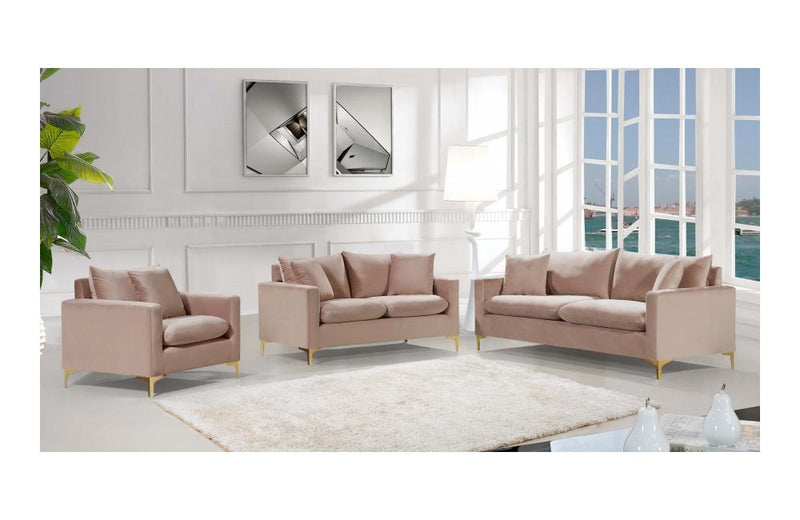 Dottie Gold Pink sofa set