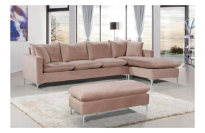 Lorinda Сhrome Pink Sectional Sofa
