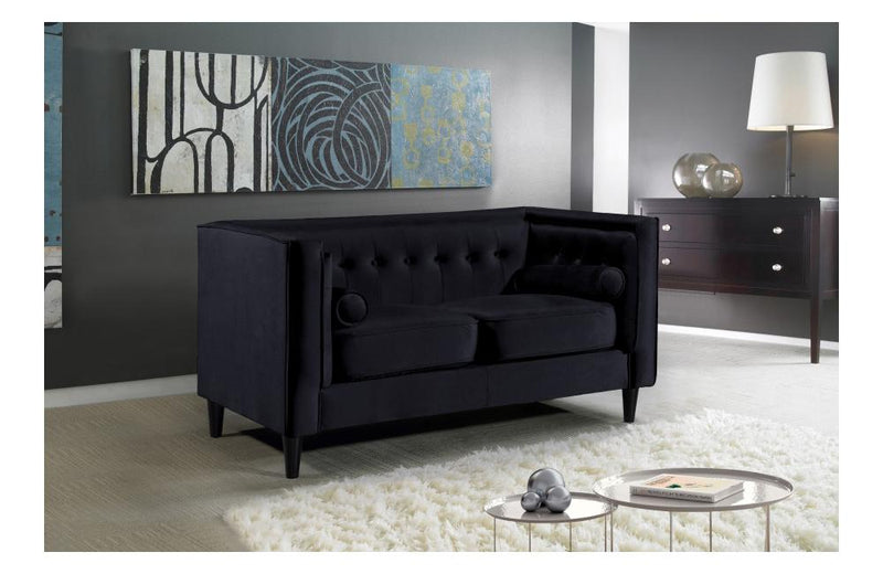 Beech Black Love Seat