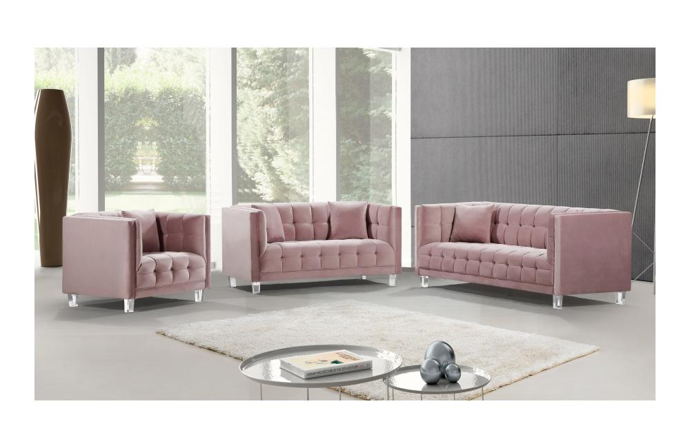 Miraculous Bailey Pink Sofa Set Onthecornerstone Fun Painted Chair Ideas Images Onthecornerstoneorg