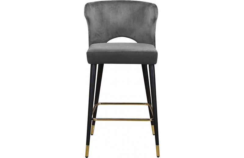 Bahati Grey Bar Stool