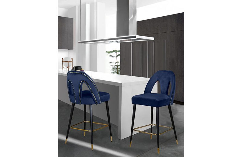 Balbina Navy Bar Stool
