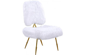 Jill White Fur Chair