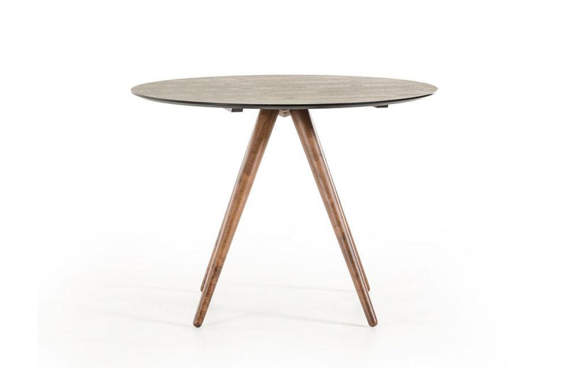 Tracer Black and Walnut Round Dining Table