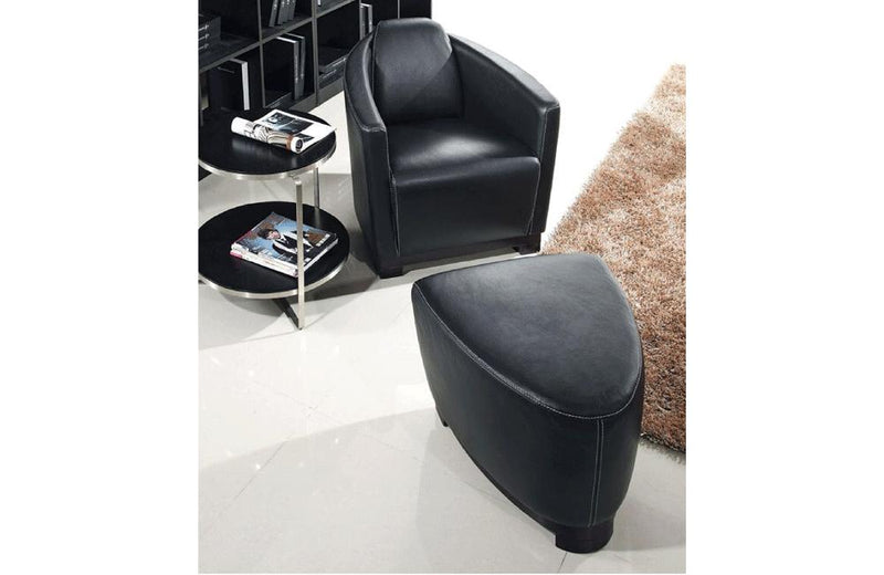Nannos 2 PC Living Room Chair Set Black