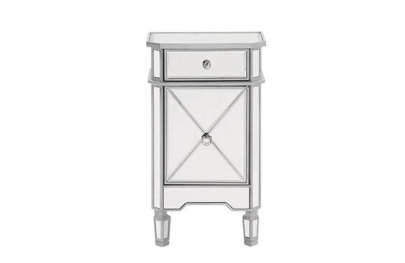 Modern 1 Drawer 1 Door Nightstand