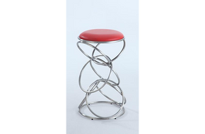 Aubrey Backless Barstool Red