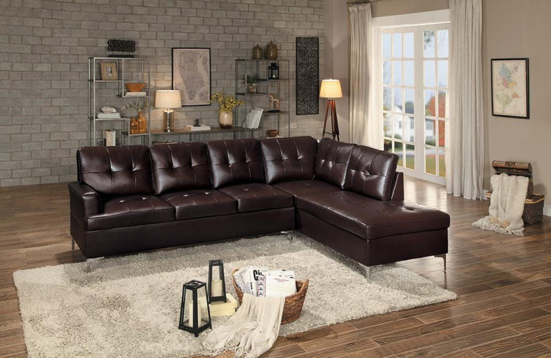 Brenton Brown Sectional Sofa