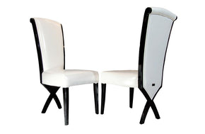 Xena Transitional X-Leg Dining Side Chair