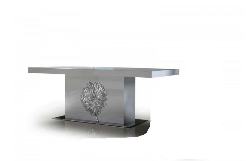 Emma White Lacquer Modern Dining Table