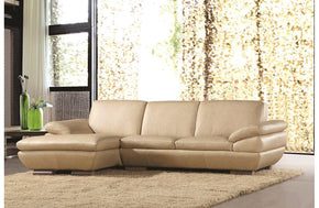 Enrico Beige Leather Sectional Sofa