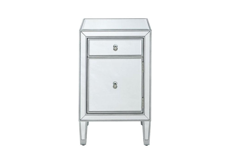 1 Drawer in Antique Silver Paint Nighstand