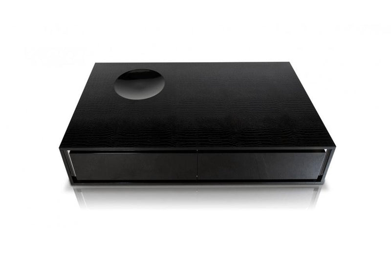 Grand Modern Black Lacquer Coffee Table