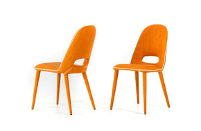 Eugene Modern Orange Fabric Dining Chair